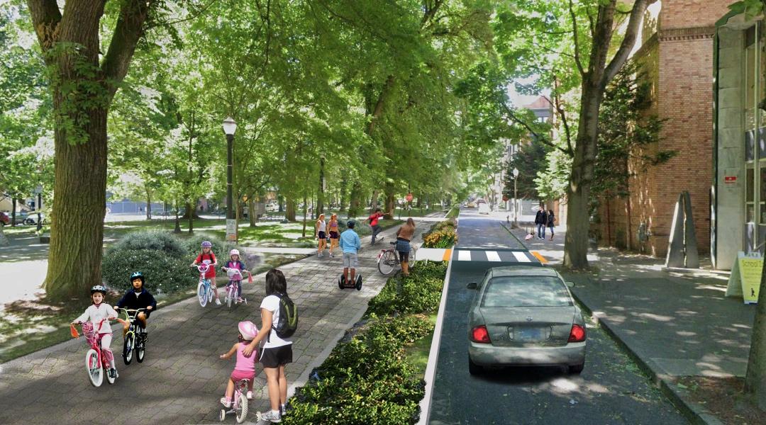 Rendering of the Green Loop on the South Park Blocks