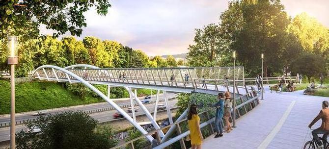 Rendering of the Earl Blumenauer Bridge