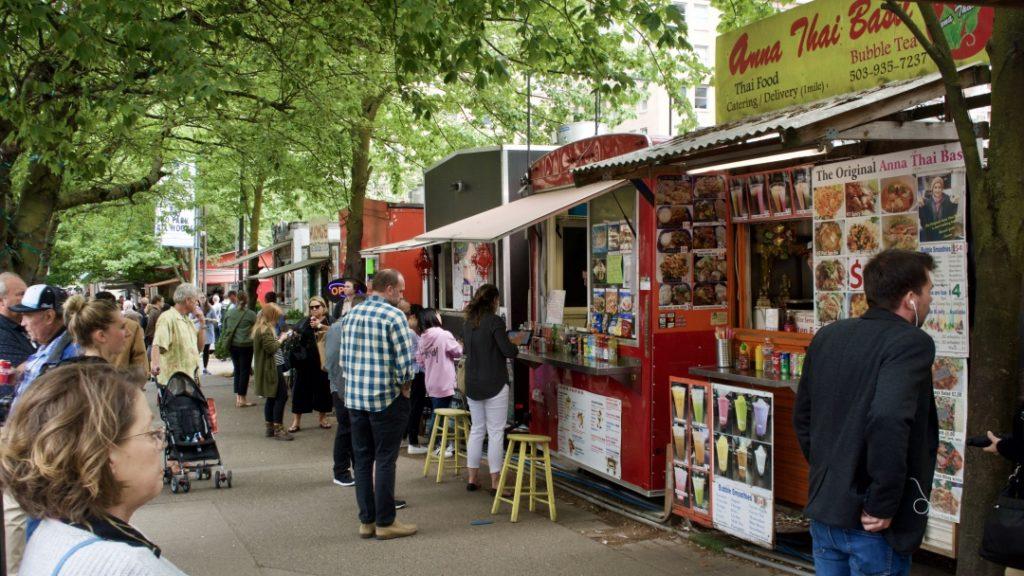 Photos of the Alder Street Food Cart Pod